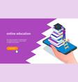 online education banner 01 vector image