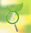 Organic Nature Lens Leaf Search vector image vector image