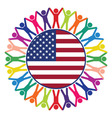 people united states america vector image vector image