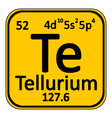 Periodic table element tellurium icon vector image vector image