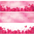 pink heart banners vector image vector image