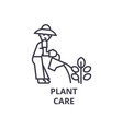 plant care line icon outline sign linear symbol vector image