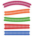 railway railroad silhouettes with distortion vector image vector image
