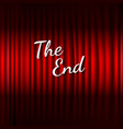 red stage curtain with the end text vector image