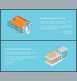 residential construction set vector image vector image