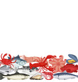 seafood background copyspace vector image vector image