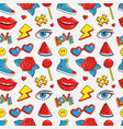 seamless pattern with colorful patches vector image vector image