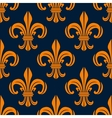 Seamless pattern with fleur-de-lis floral scrolls vector image vector image
