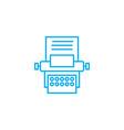 secretarial work linear icon concept secretarial vector image vector image