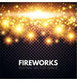 shining fireworks on transparent background vector image