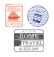 ship and cableway travel stamps of rome in vector image vector image