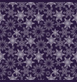 snowflakes seamless pattern new years snow vector image