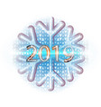 square happy new year background aureate vector image