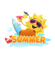 Summer Theme 2 vector image vector image