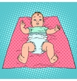 Surprised baby in diaper vector image vector image