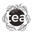 tea symbol circle vector image
