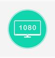television icon sign symbol vector image vector image