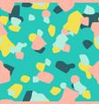terrazzo seamless pattern abstract mosaic summer vector image vector image