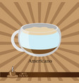 the coffee cup on a brown background vector image vector image