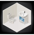 toilet room interior isometric vector image
