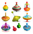 top toy kids whirligig humming spinner and vector image