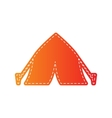 Tourist tent sign Orange applique isolated vector image vector image