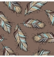 Vintage ethnic Feathers seamless pattern vector image