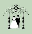 vintage graphic chuppah religious jewish wedding vector image