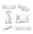 white candy wrapper mockup set isolated on white vector image vector image