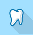 white tooth logo icon flat style vector image vector image