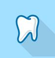 White tooth logo icon flat style
