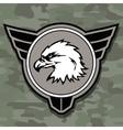 Eagle head logo emblem template mascot symbol for vector image