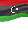 Waving flag of Libyan Republic isolated on white vector image