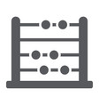 abacus glyph icon school and education vector image vector image
