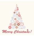 Abstract fantasy christmas tree background vector image vector image