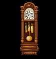 antique wooden grandfather clock isolated