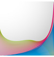 background design with colorful wavy lines vector image