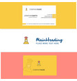 beautiful chef logo and business card vertical vector image vector image