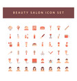 beauty salon icon set with colorful modern flat vector image
