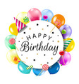 birthday banner with colorful balloons vector image