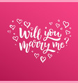 brush lettering will you marry me vector image