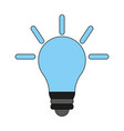 bulb cartoon flat vector image