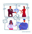 business people man woman boss giving vector image vector image