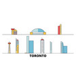canada toronto city flat landmarks vector image vector image