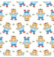 cartoon cute bear and toy seamless pattern vector image