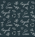 chalkboard ecology seamless pattern with recycling vector image