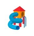 Children tube slide cartoon icon vector image