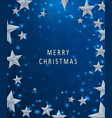 christmas and new years blue background with frame vector image vector image