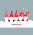 christmas gnome greeting card vector image