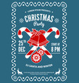 christmas party invitation flyer or poster design vector image vector image